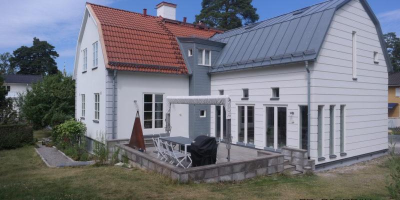 Fasadrenovering   Gösta tamms väg 16, Sollentuna   Roseb AB